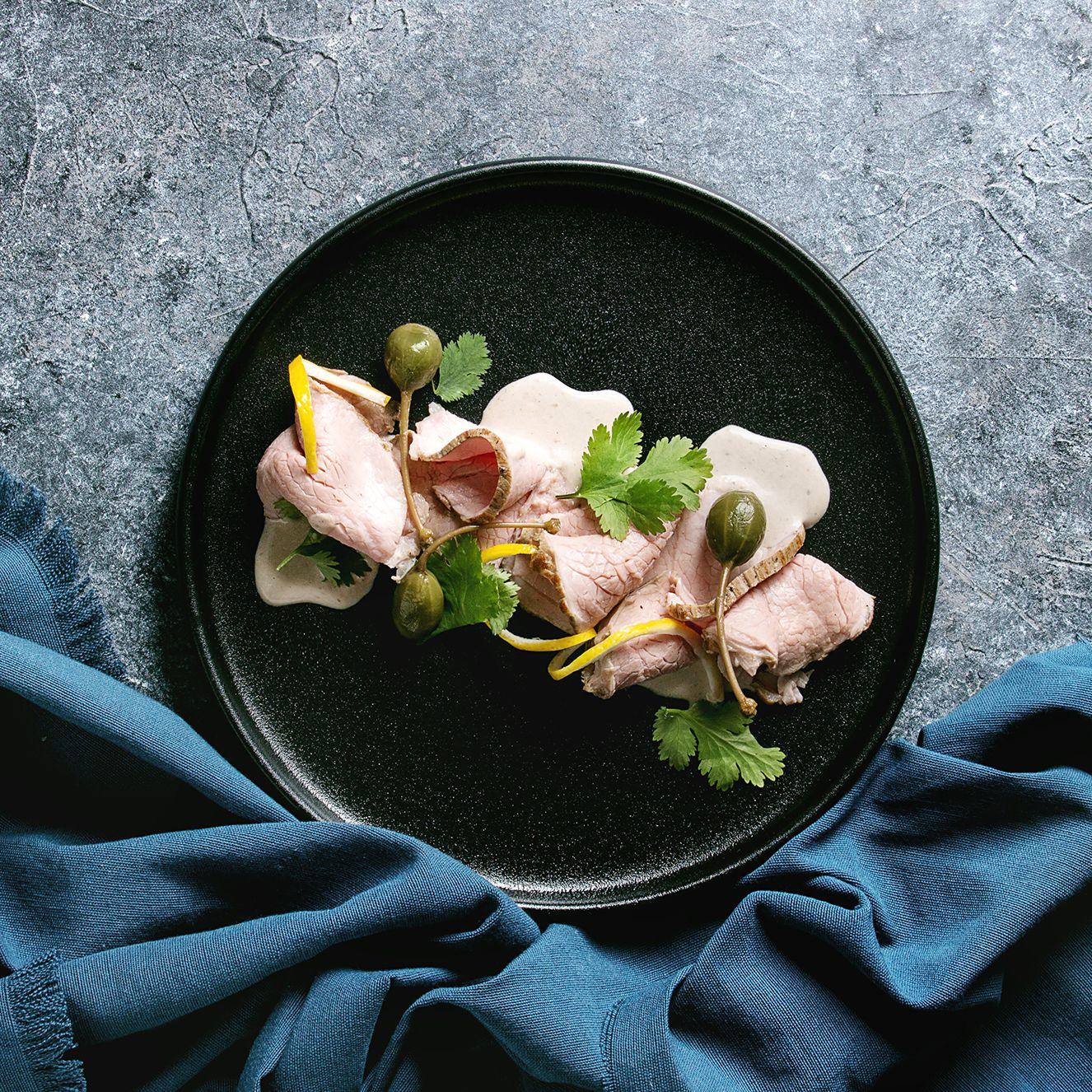 Ricetta Vitello Tonnato Moderno.Veal In Tuna Caper Sauce Vitello Tonnato Recipe