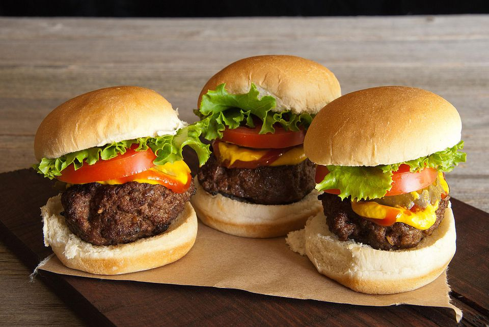 All-American sliders (mini burgers)