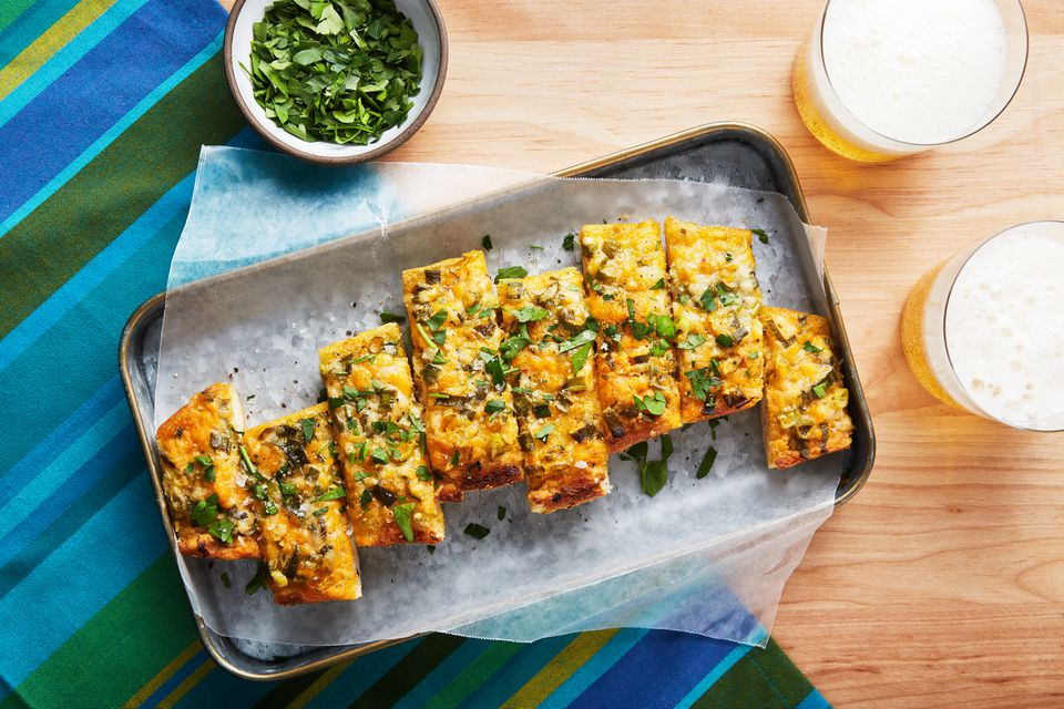 Cheesy vegan garlic bread
