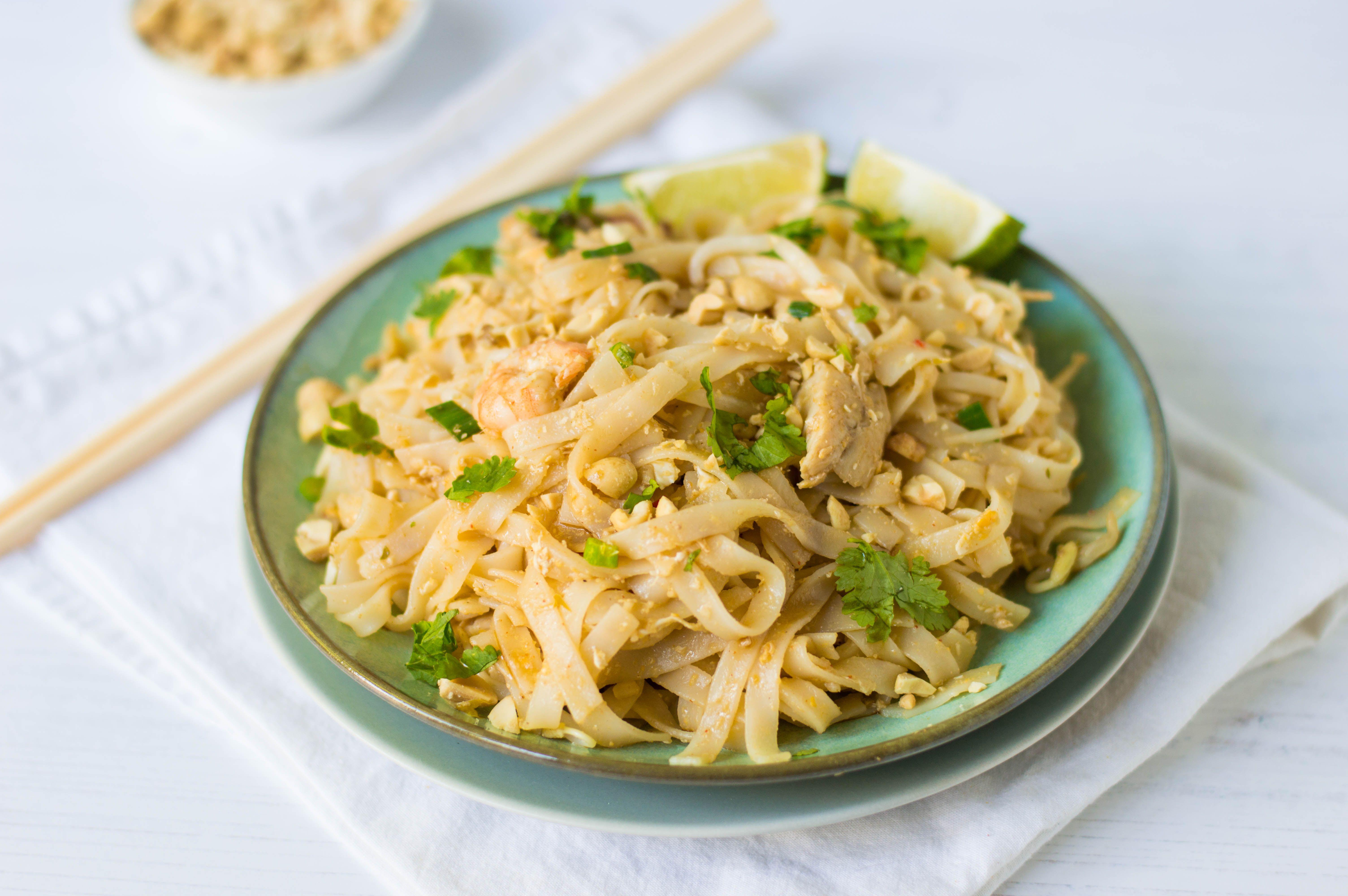 Easy Pad Thai Noodles Recipe