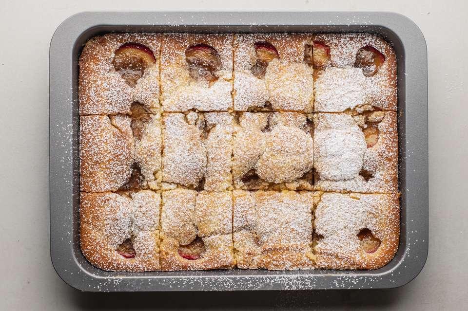 Cut plum cake