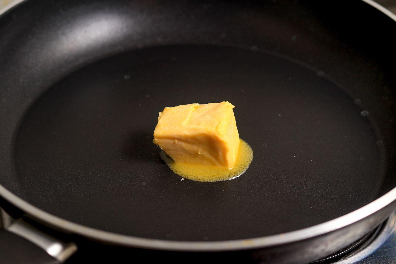 Melt butter in skillet