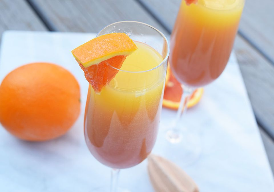 Pomegranate Tequila Sunrise Mimosa