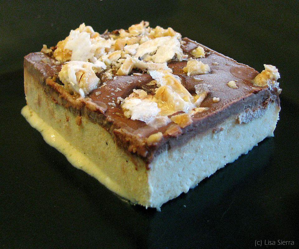 Helado de turrón fácil con receta de chocolate