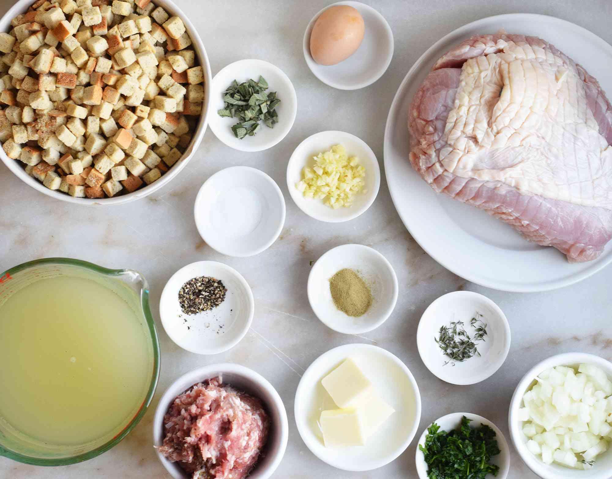 ingredients for sheet pan turkey