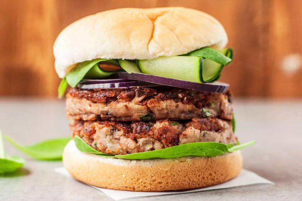 Vegan Mushroom Bean Burger