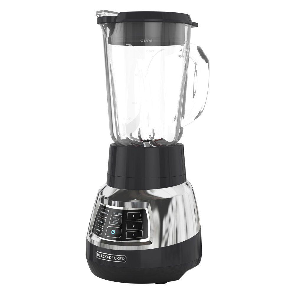 BLACK+DECKER Quiet Blender with Cyclone® Glass Jar