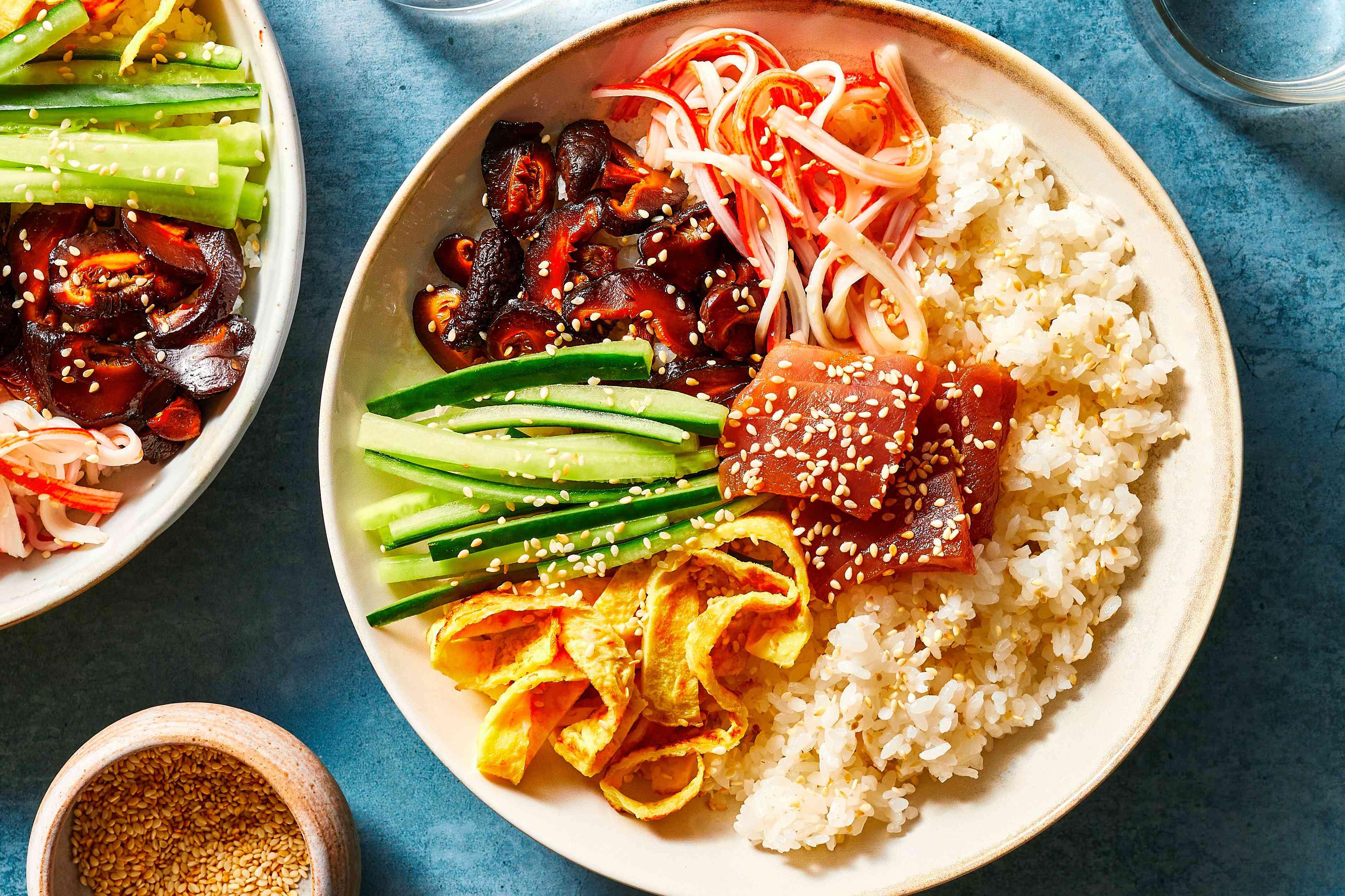 Japanese Chirashizushi in a bowl