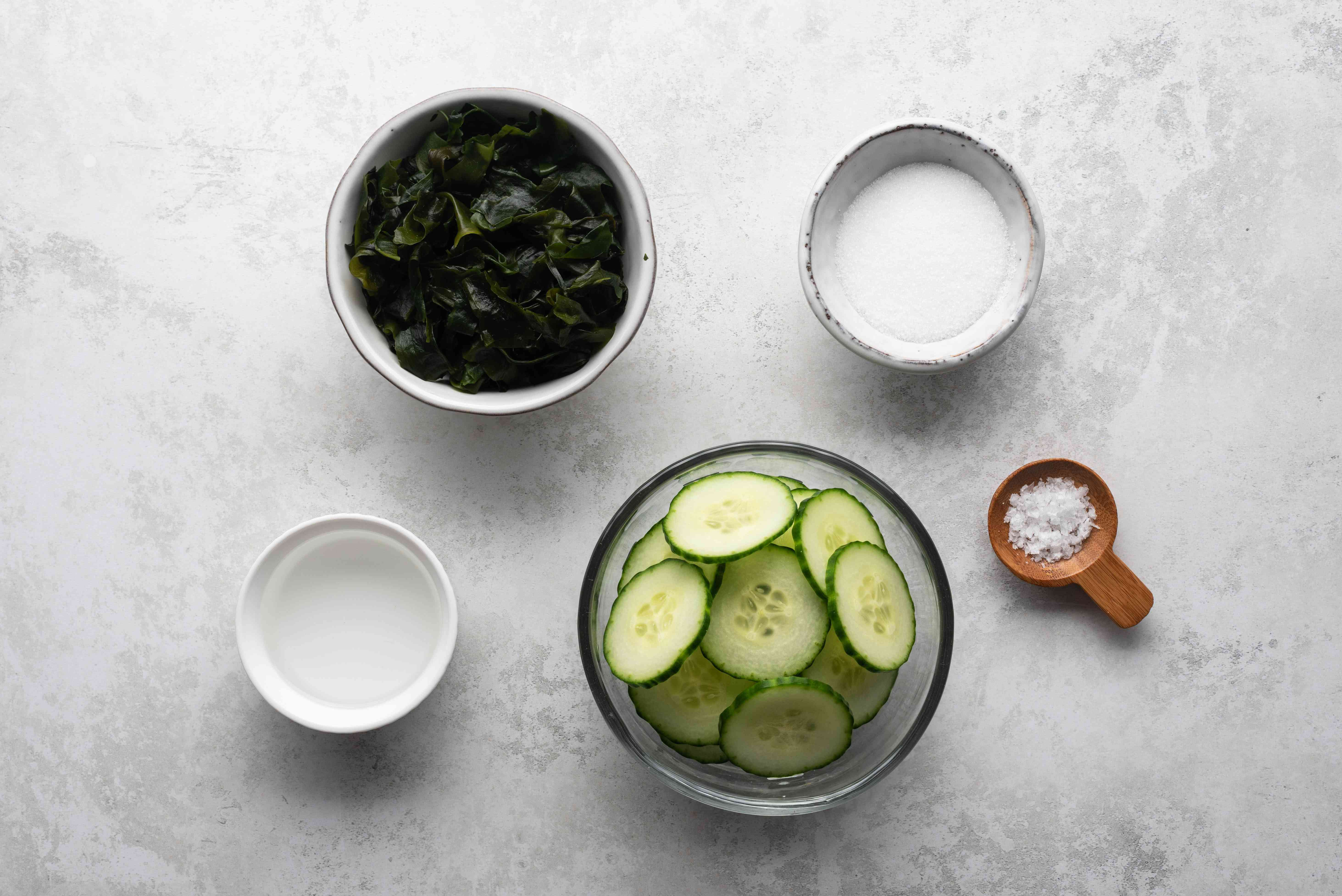 Cucumber and Wakame Salad ingredients