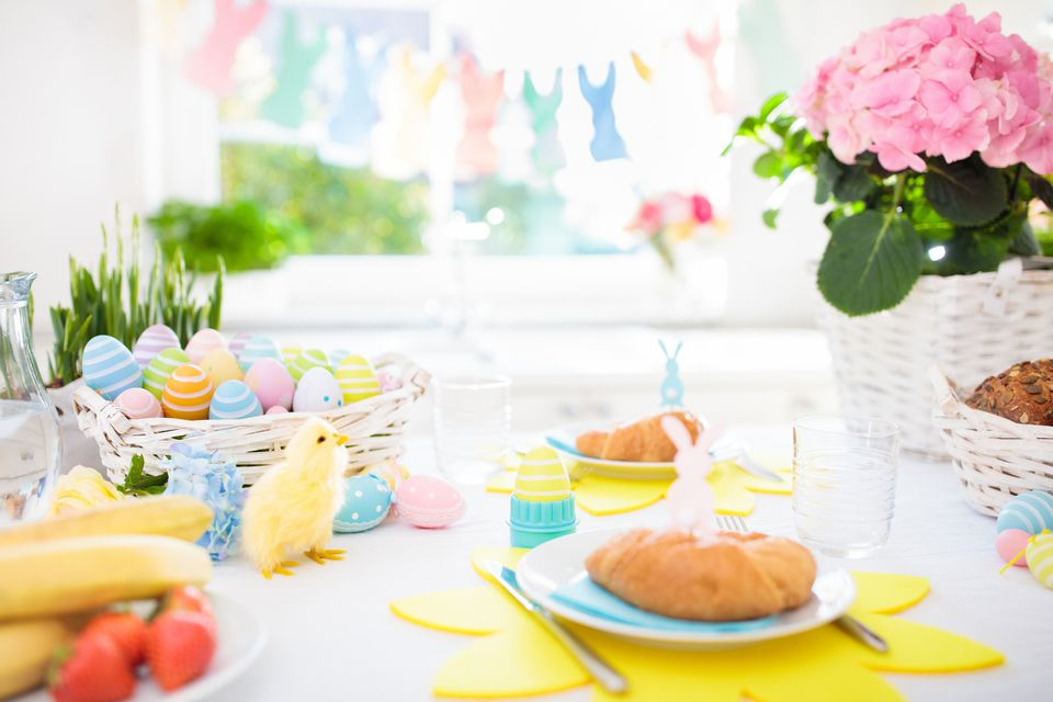 Easter brunch table set