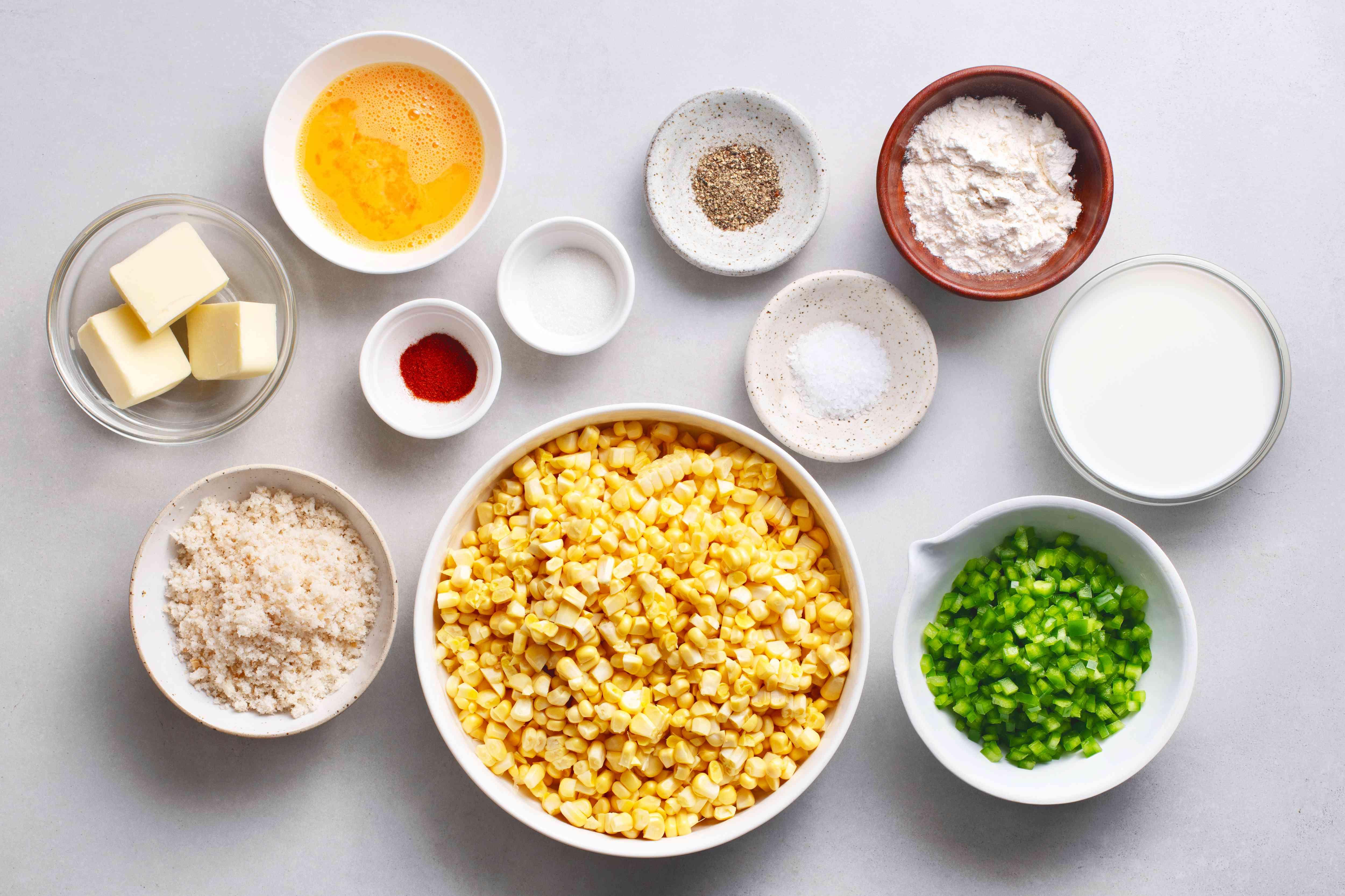 Scalloped Corn Casserole ingredients