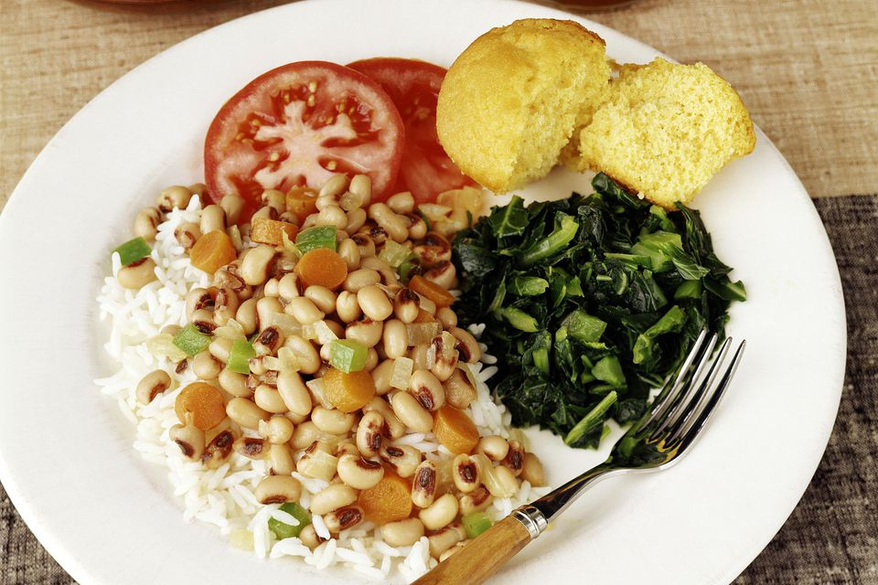 Hoppin' John and black-eyed peas