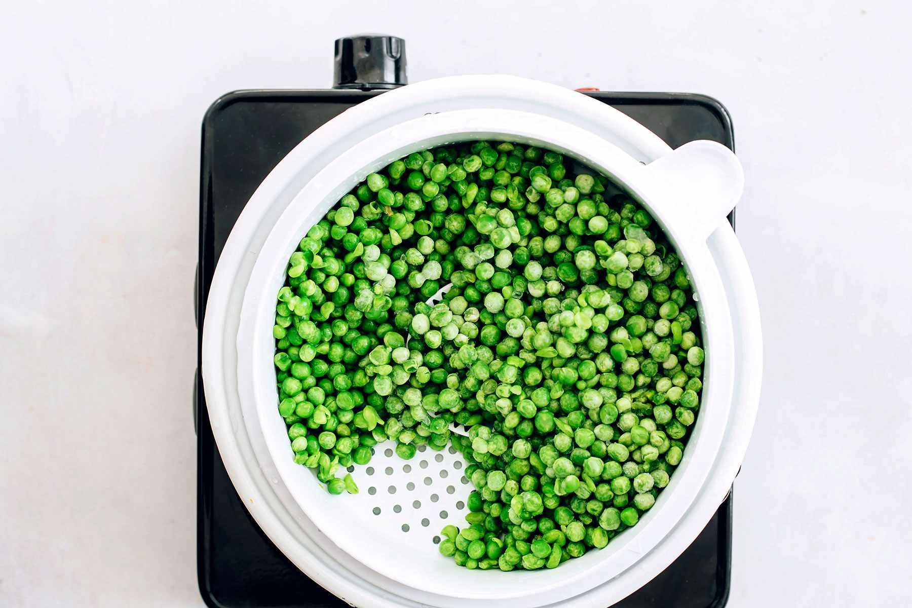 steam the peas