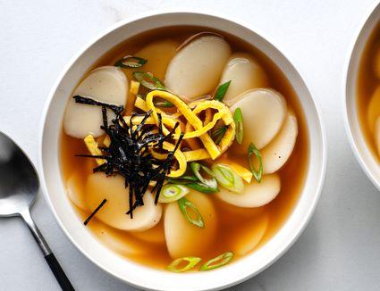 Korean Rice Cake Soup (Duk Guk)