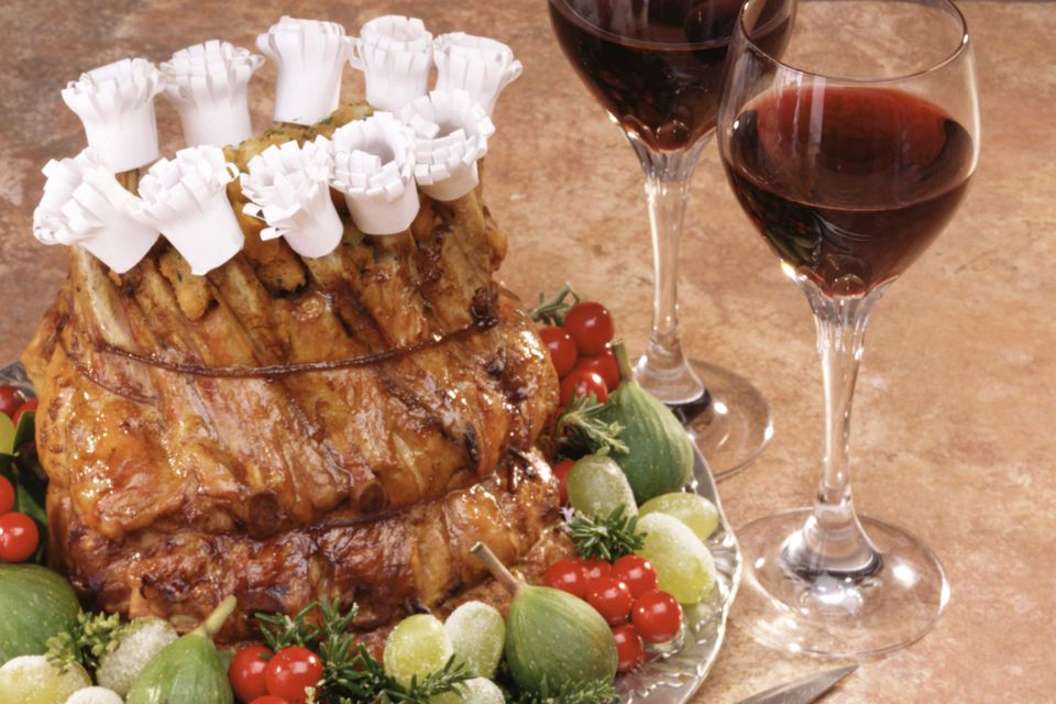 crown roast of pork, stuffed