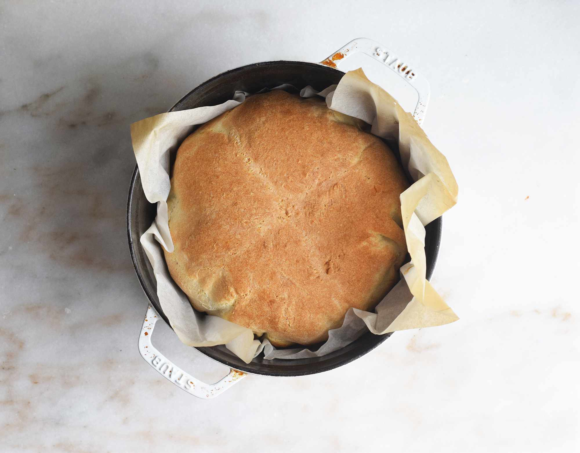 bread bowl baked in a dutch oven