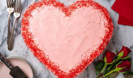 Heart-Shaped Valentine's Day Cake