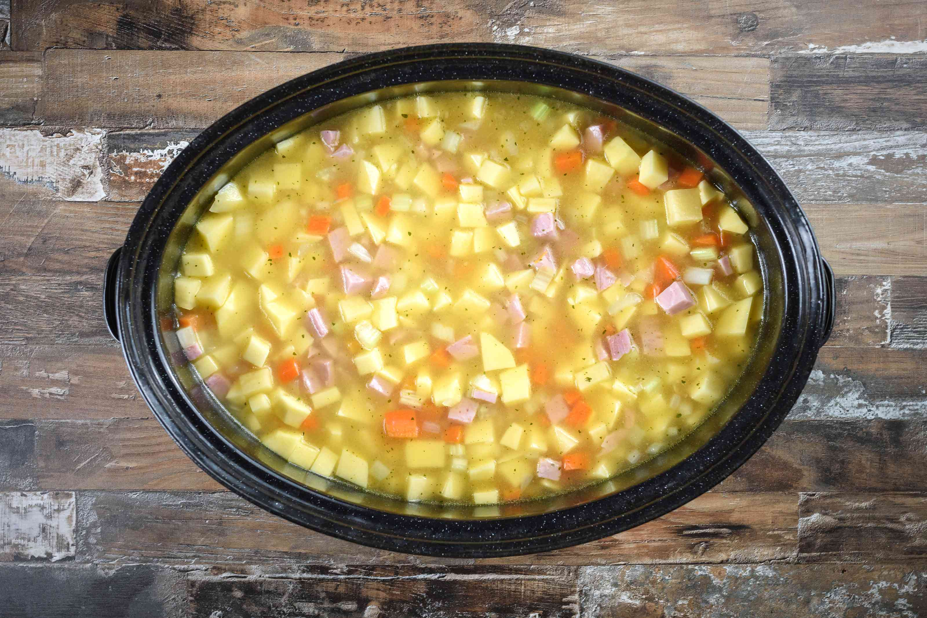 Transfer cooked vegetables to slowcooker