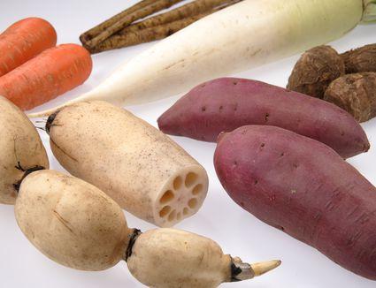 Assortment of root vegetables.