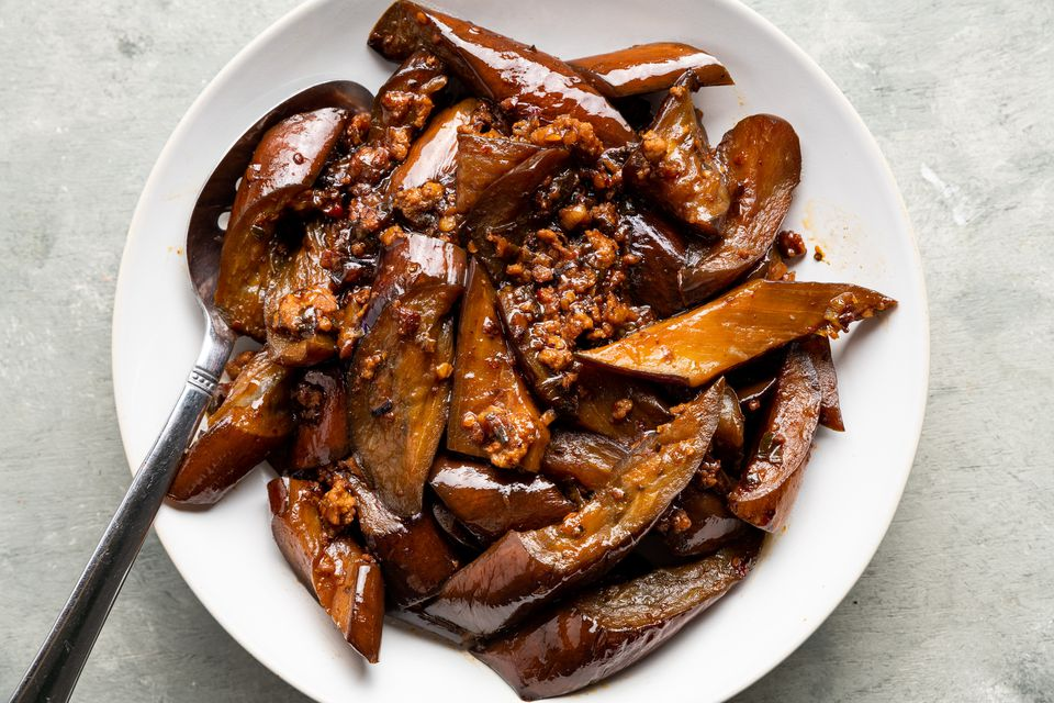 Sichuan Eggplant in Garlic Sauce