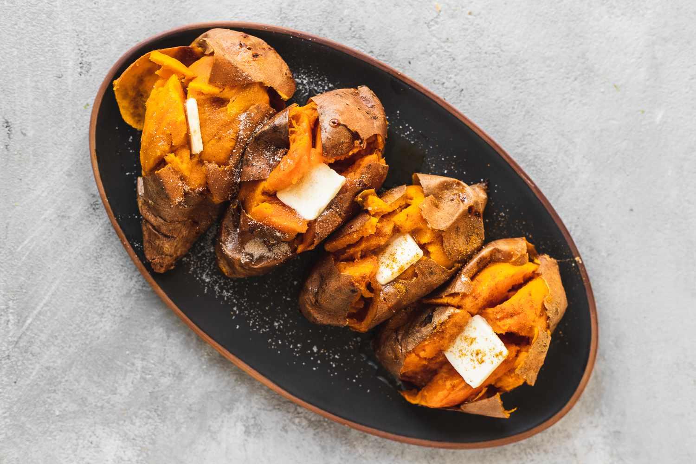 Whole Baked Sweet Potatoes