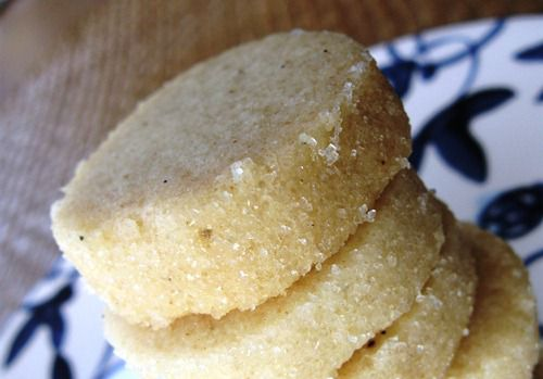 Stack of Heidesand Shortbread Cookies