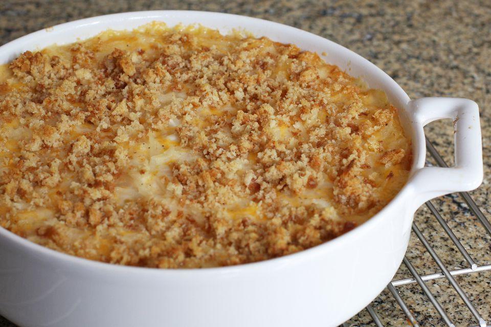 Cazuela de papas al horno con queso