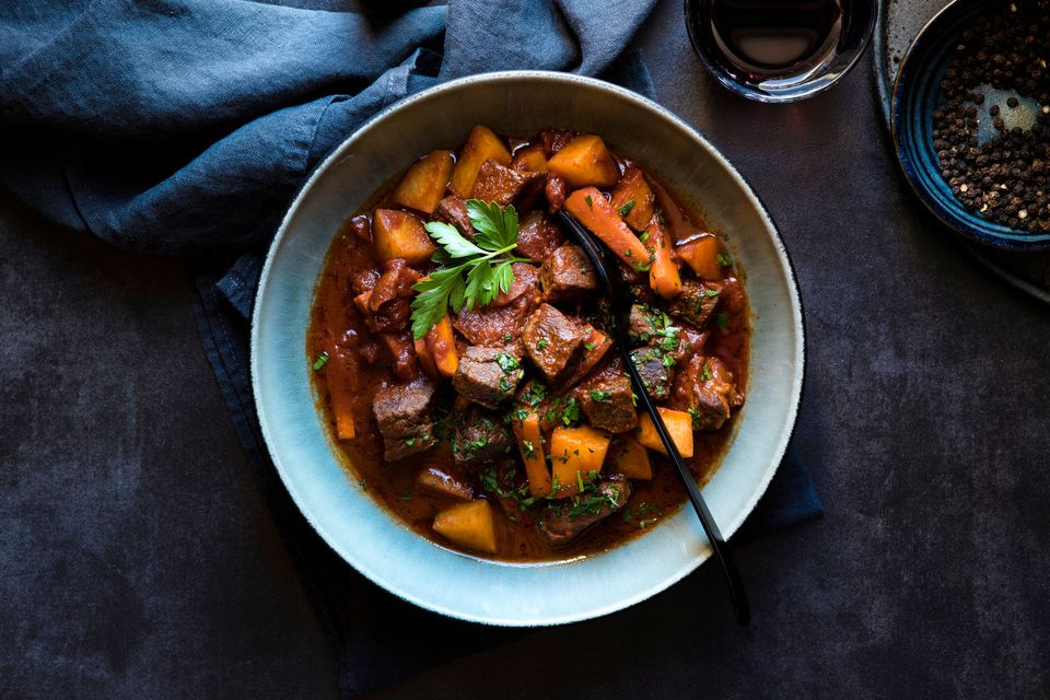 Slow Cooker Beef Stew with Sweet Potatoes