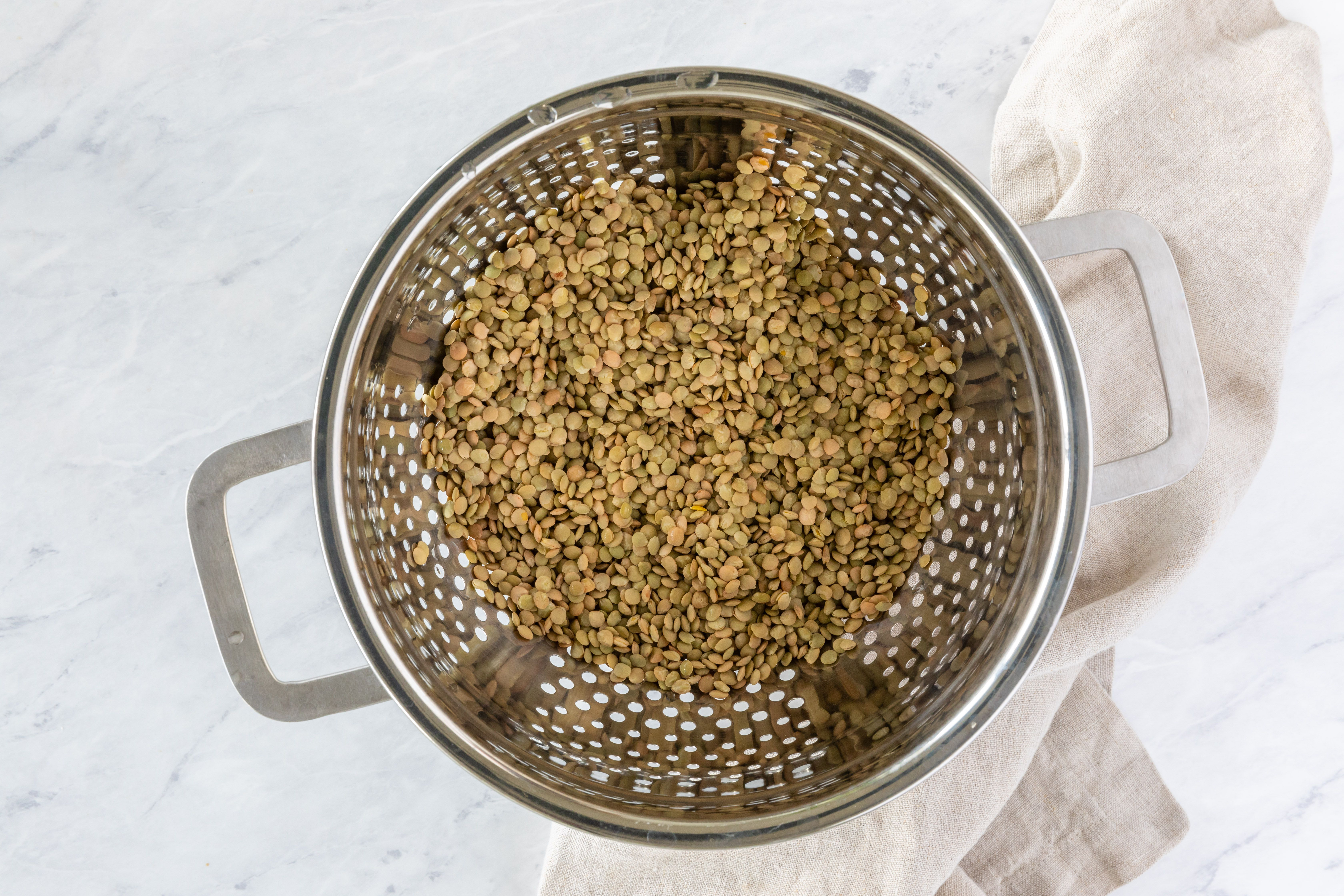 Rinse the lentils