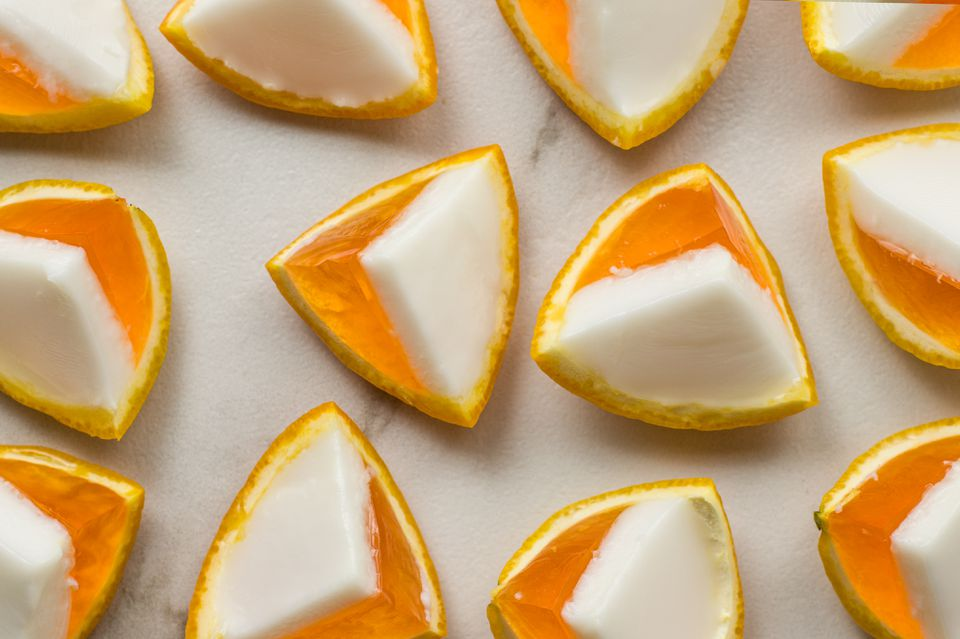 Candy corn orange jello shots
