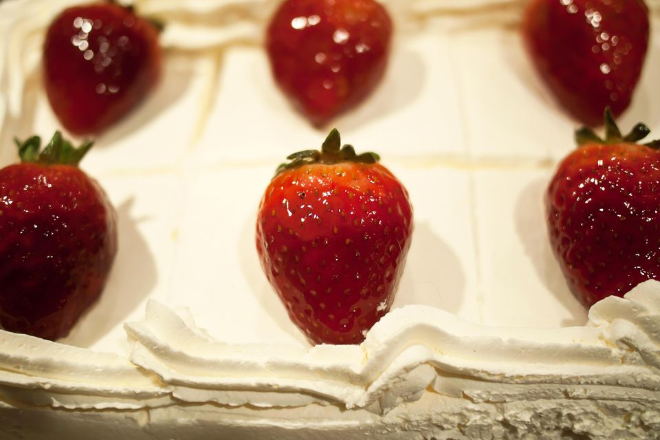 A close-up of a cassata cake