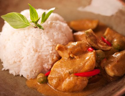 Thai chicken curry with rice