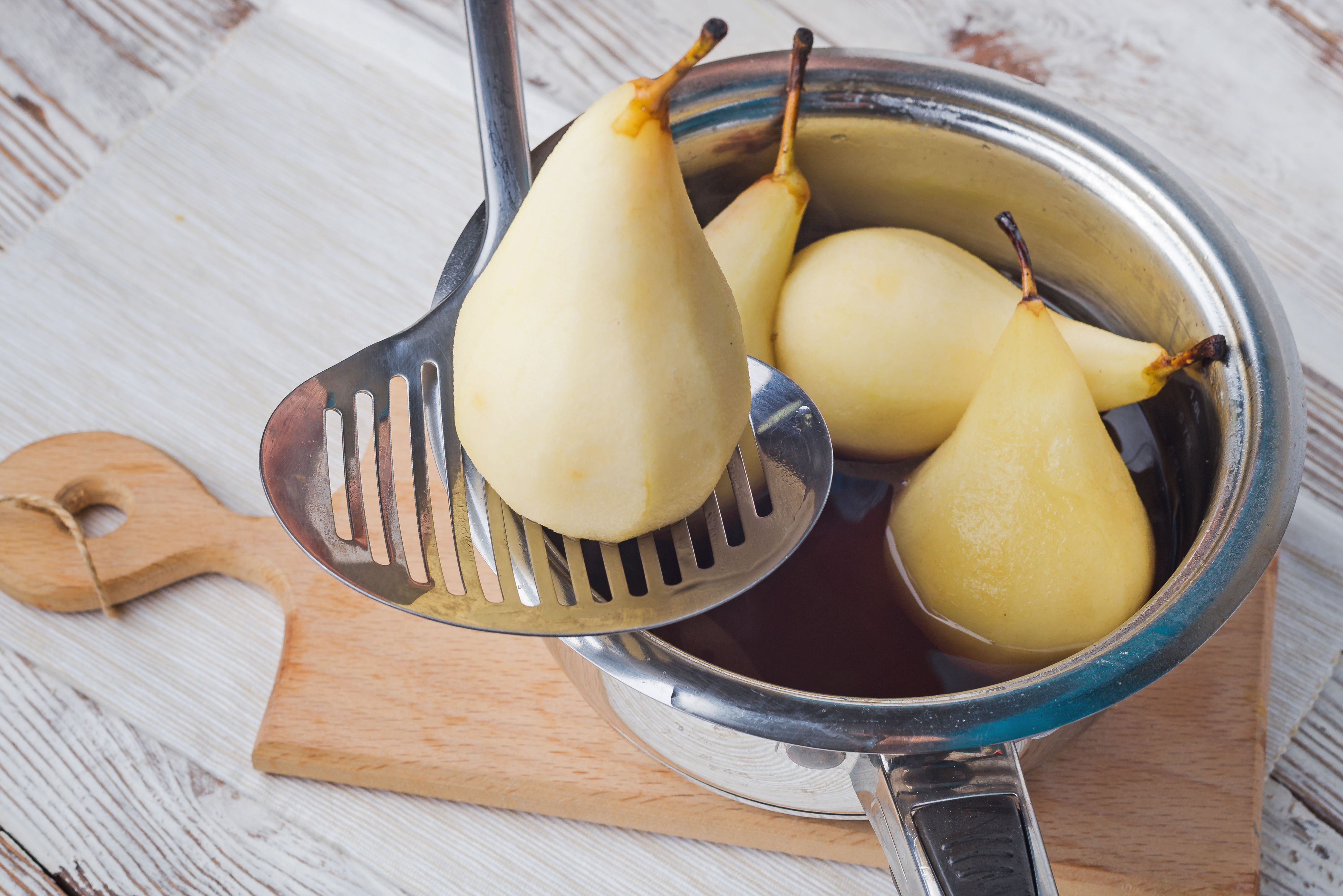 Allow pears to cool
