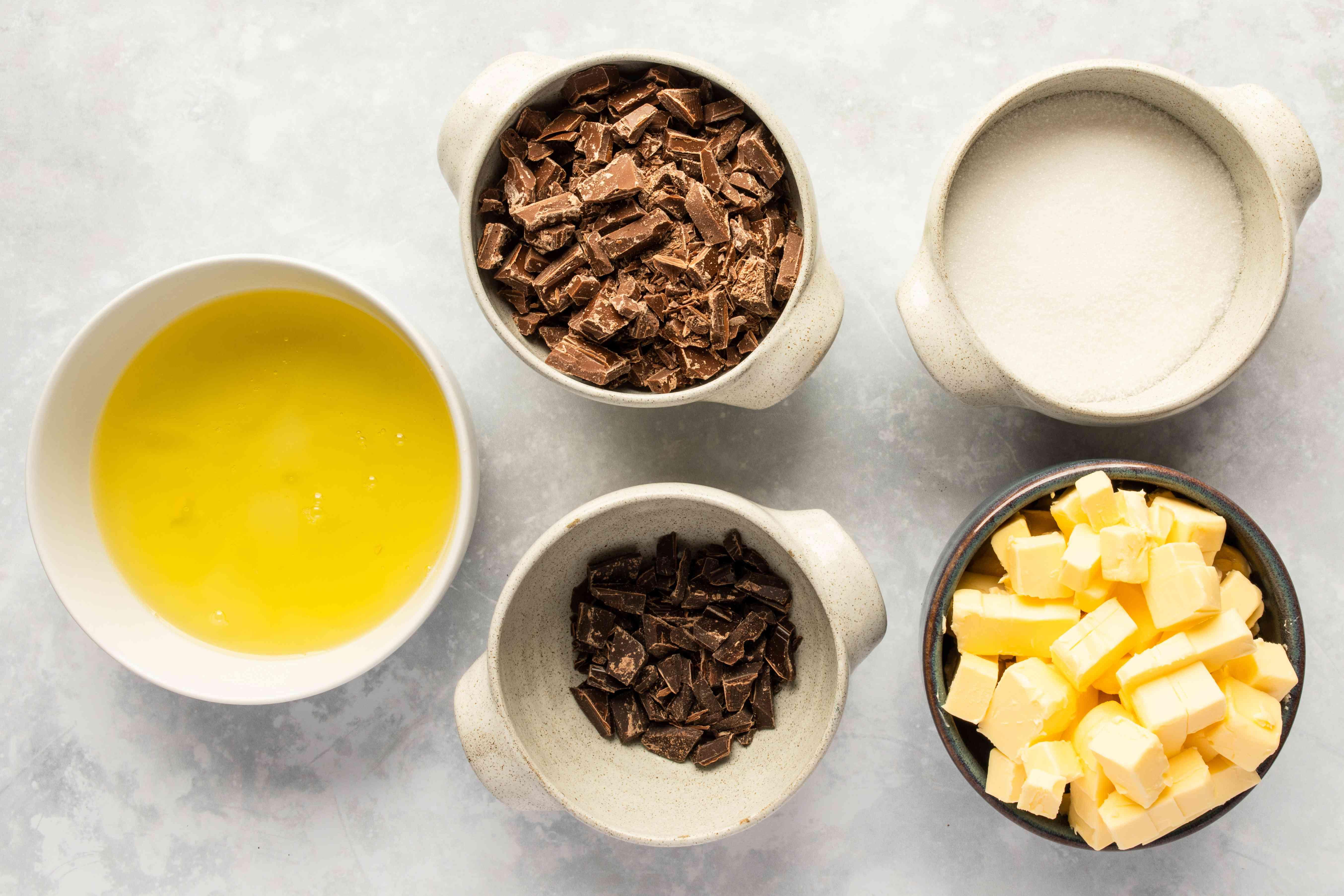 Ingredients for dobosh torte filling