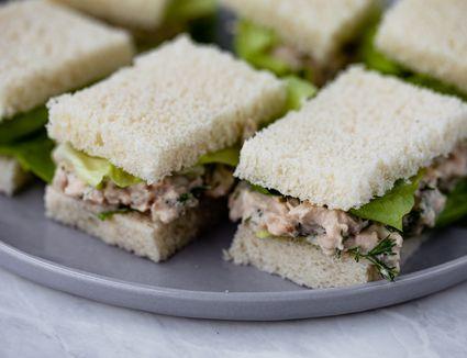 Salmon Cucumber Sandwiches