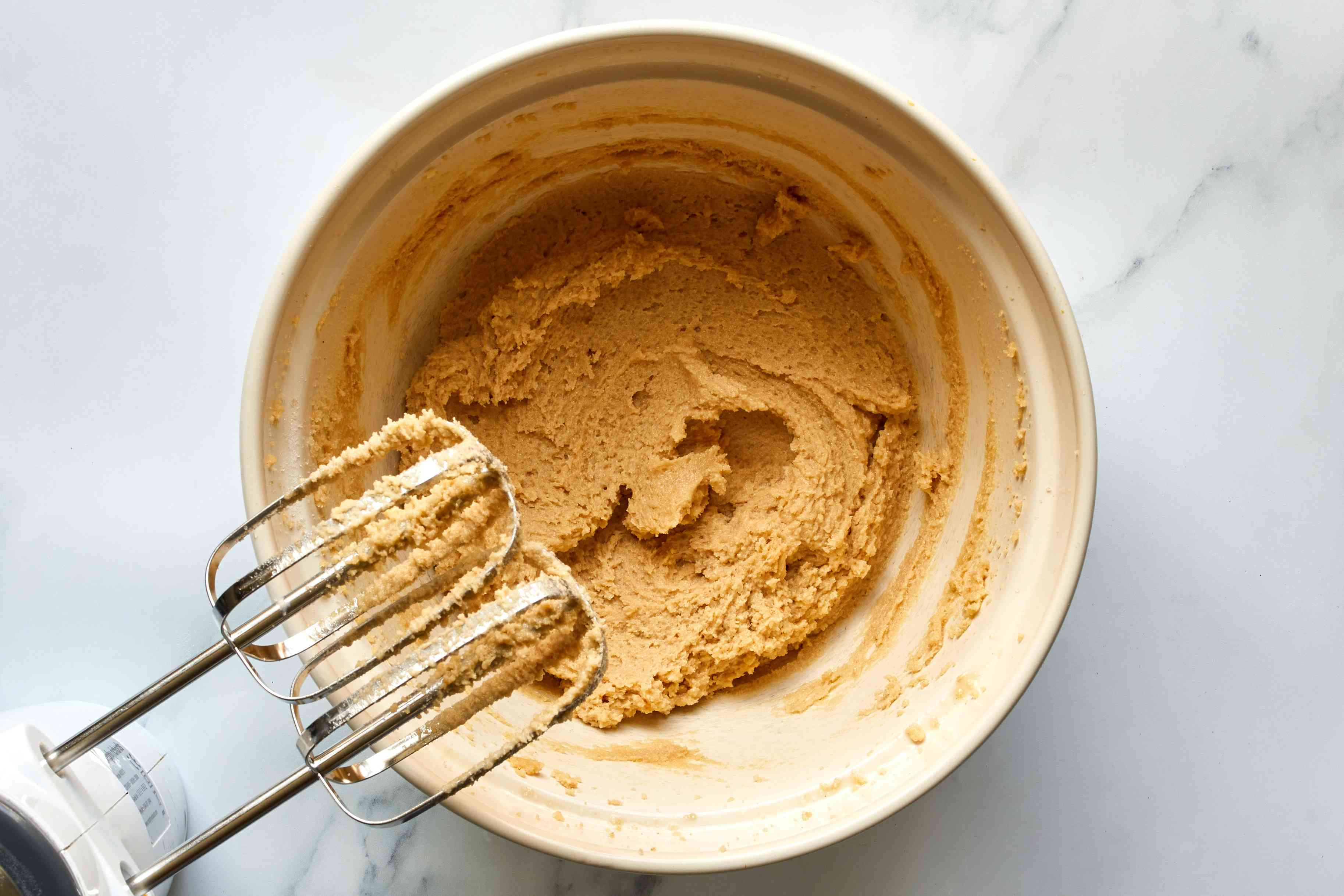 brown and granulated sugar beat together with butter