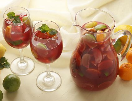 Strawberry Lime (with mint) Sangria