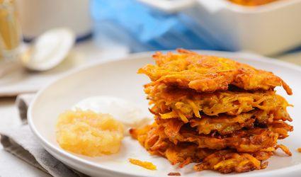 Curried sweet potato latke