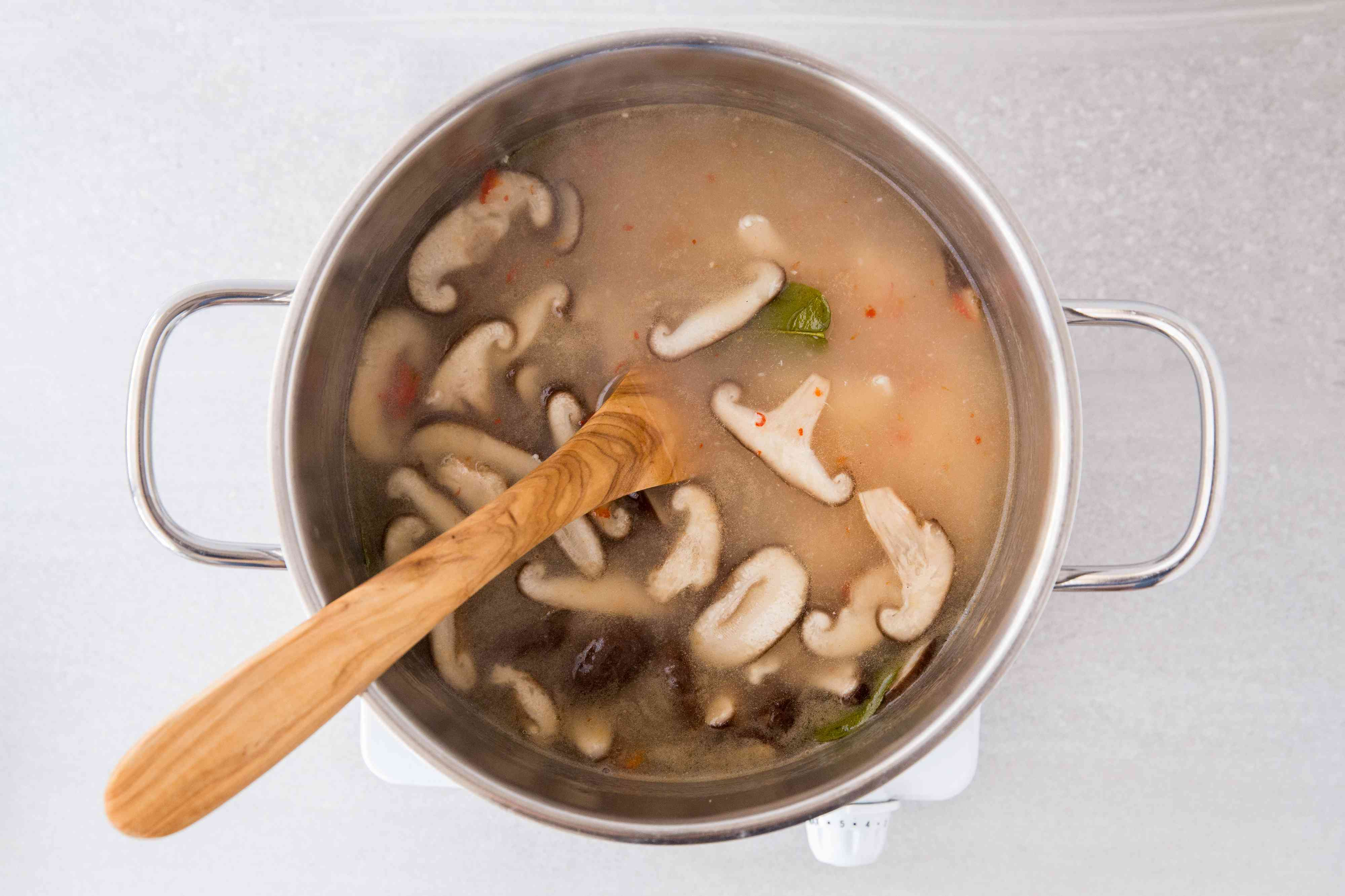 soup cooking in a pot