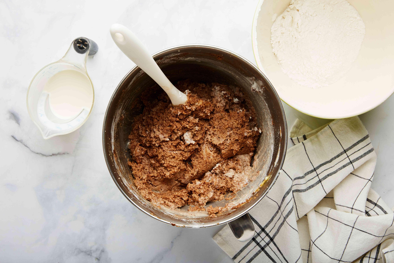 Add flour to mixture