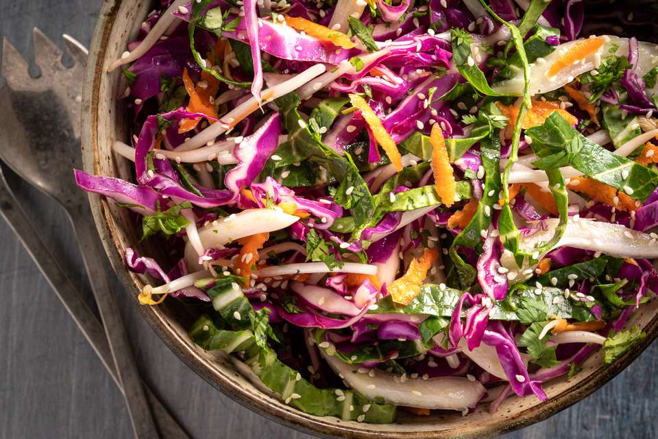 Asian Coleslaw With Rice Vinegar Dressing