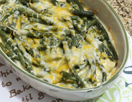 Cheesy green beans