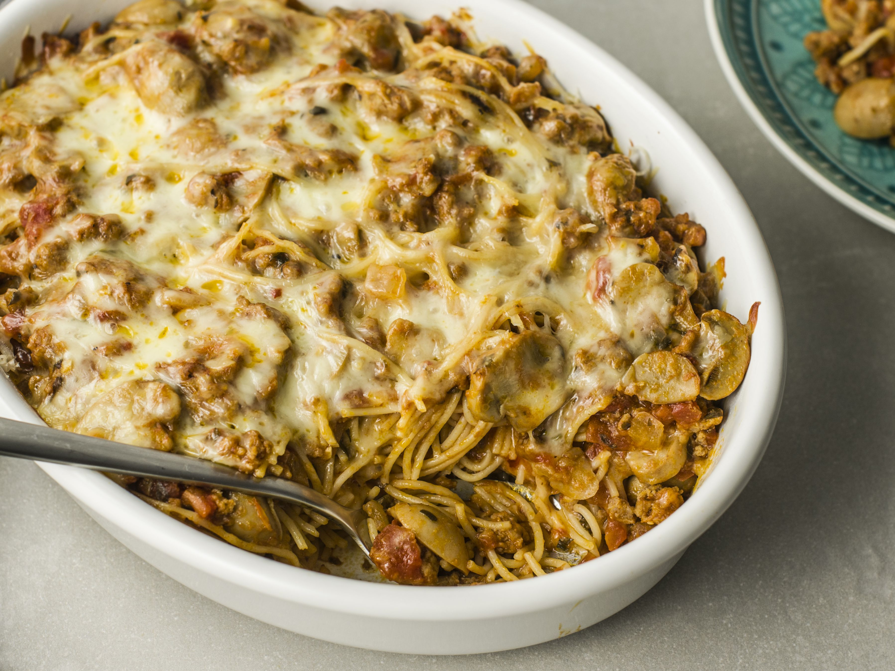 Spaghetti Casserole With Ground Beef And Cheese Recipe