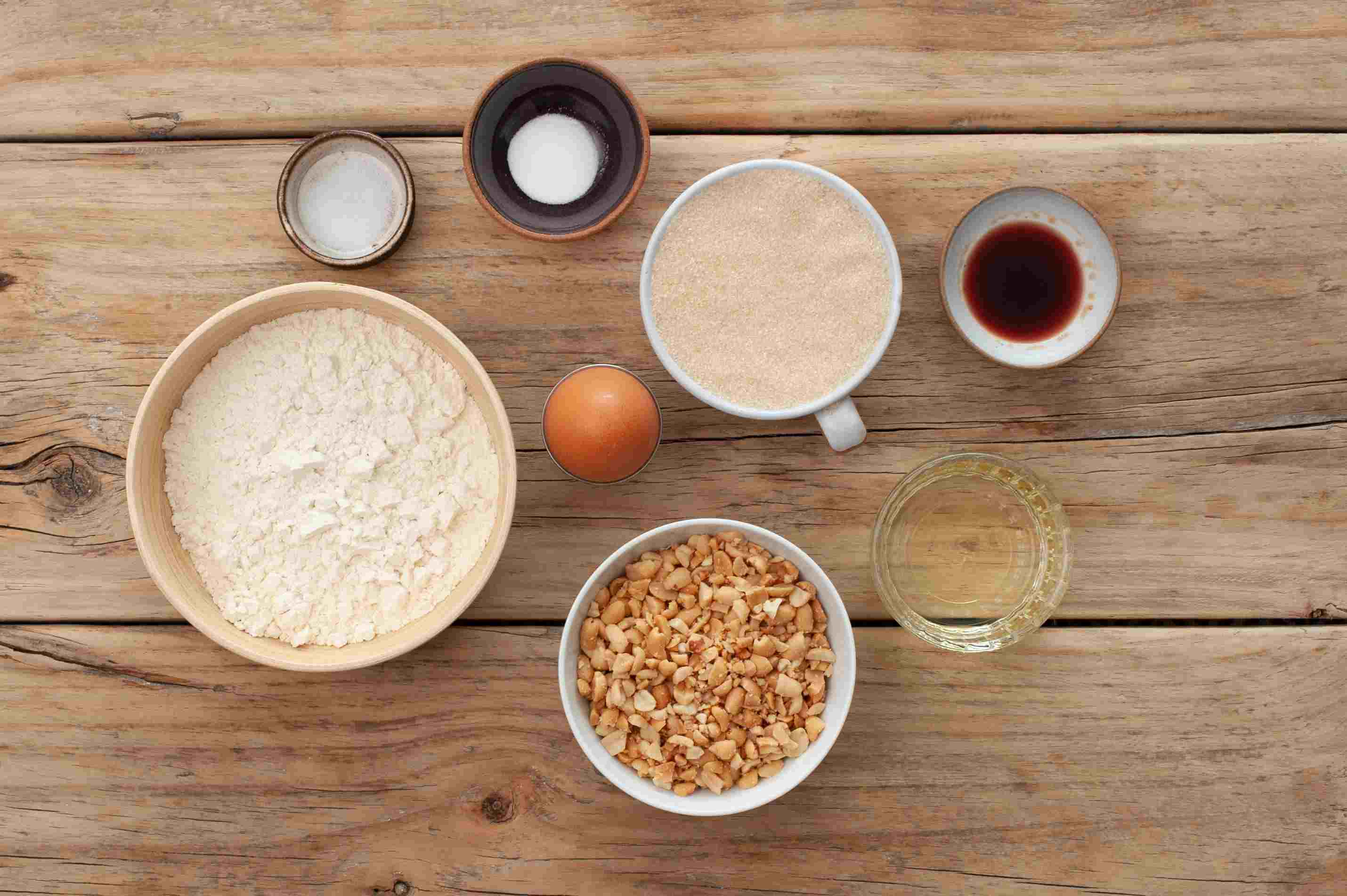 Ingredients for peanut cookies