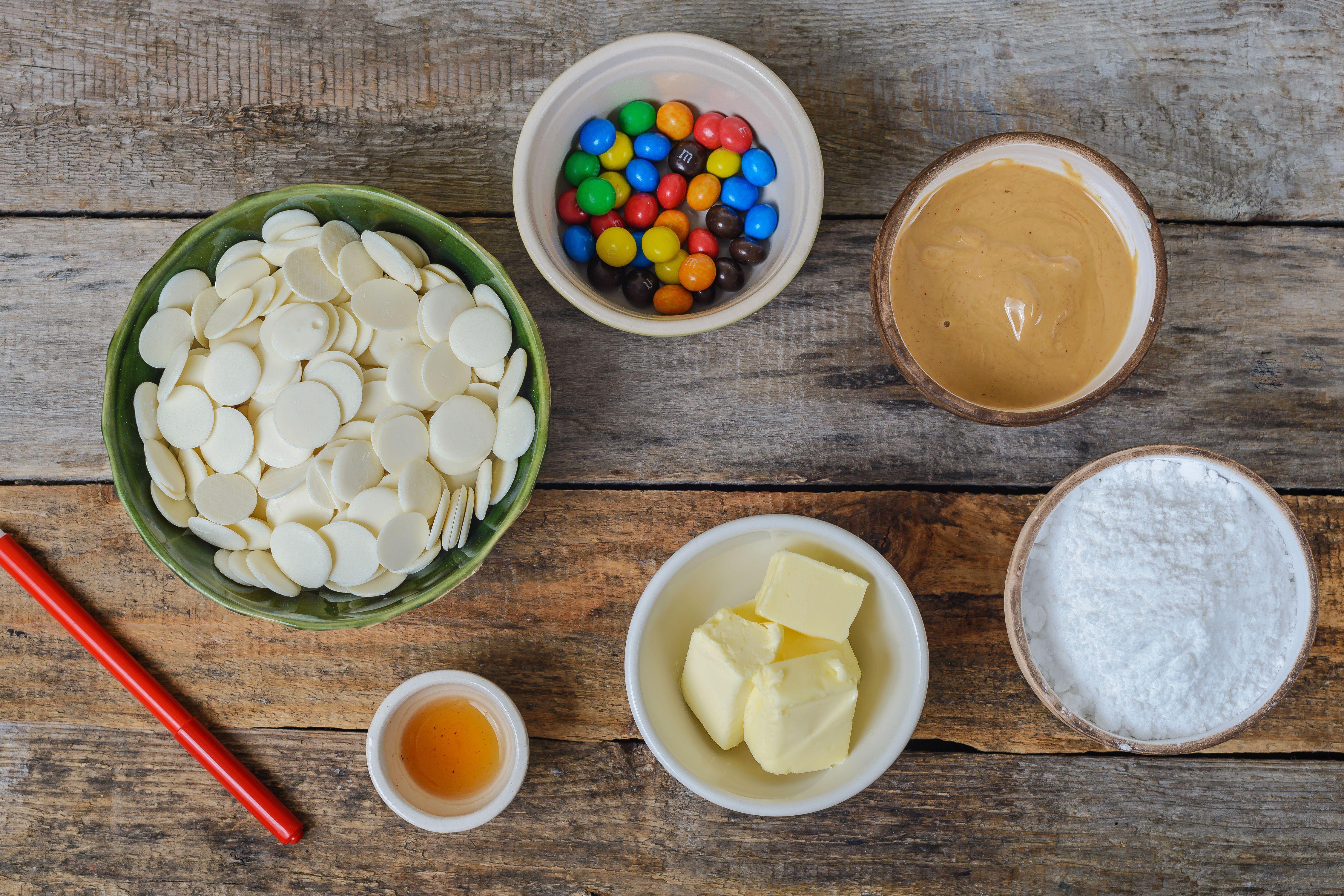 Ingredients for peanut butter eyeballs