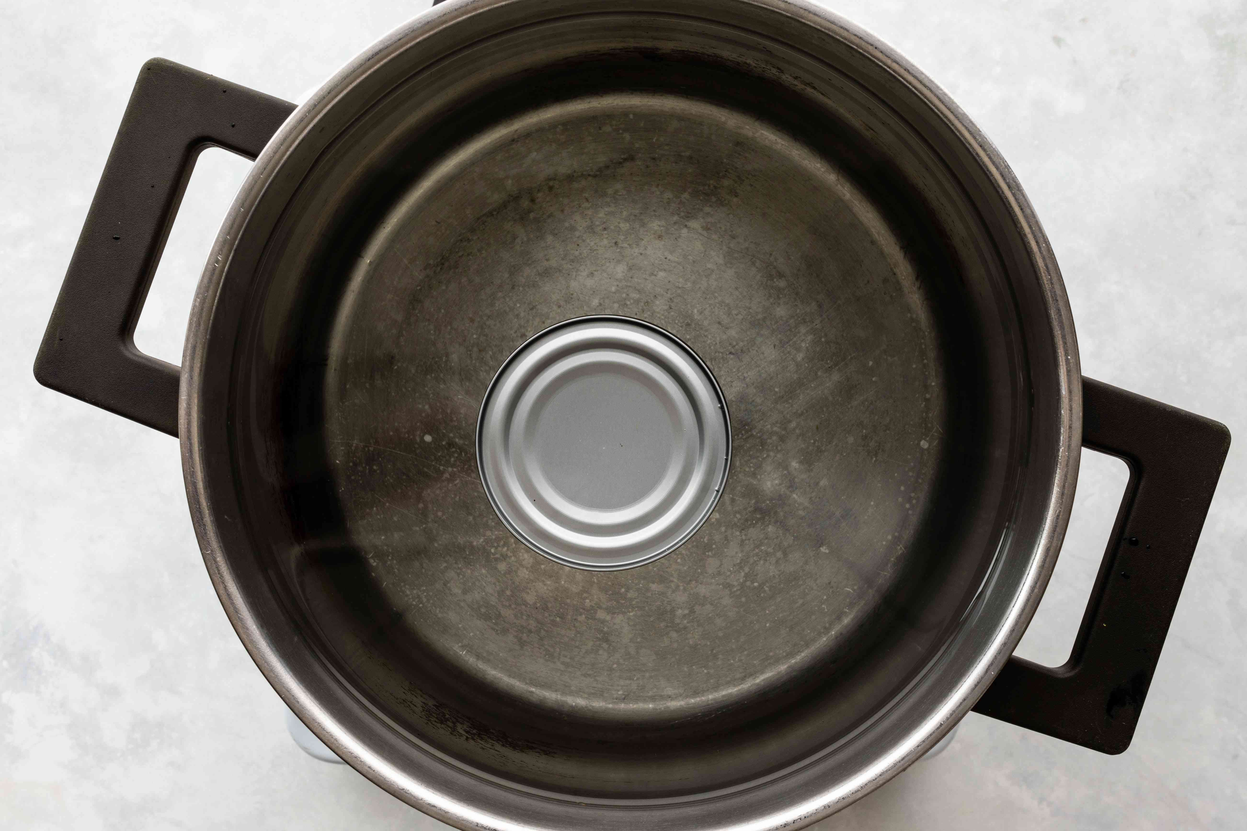 Can in pot