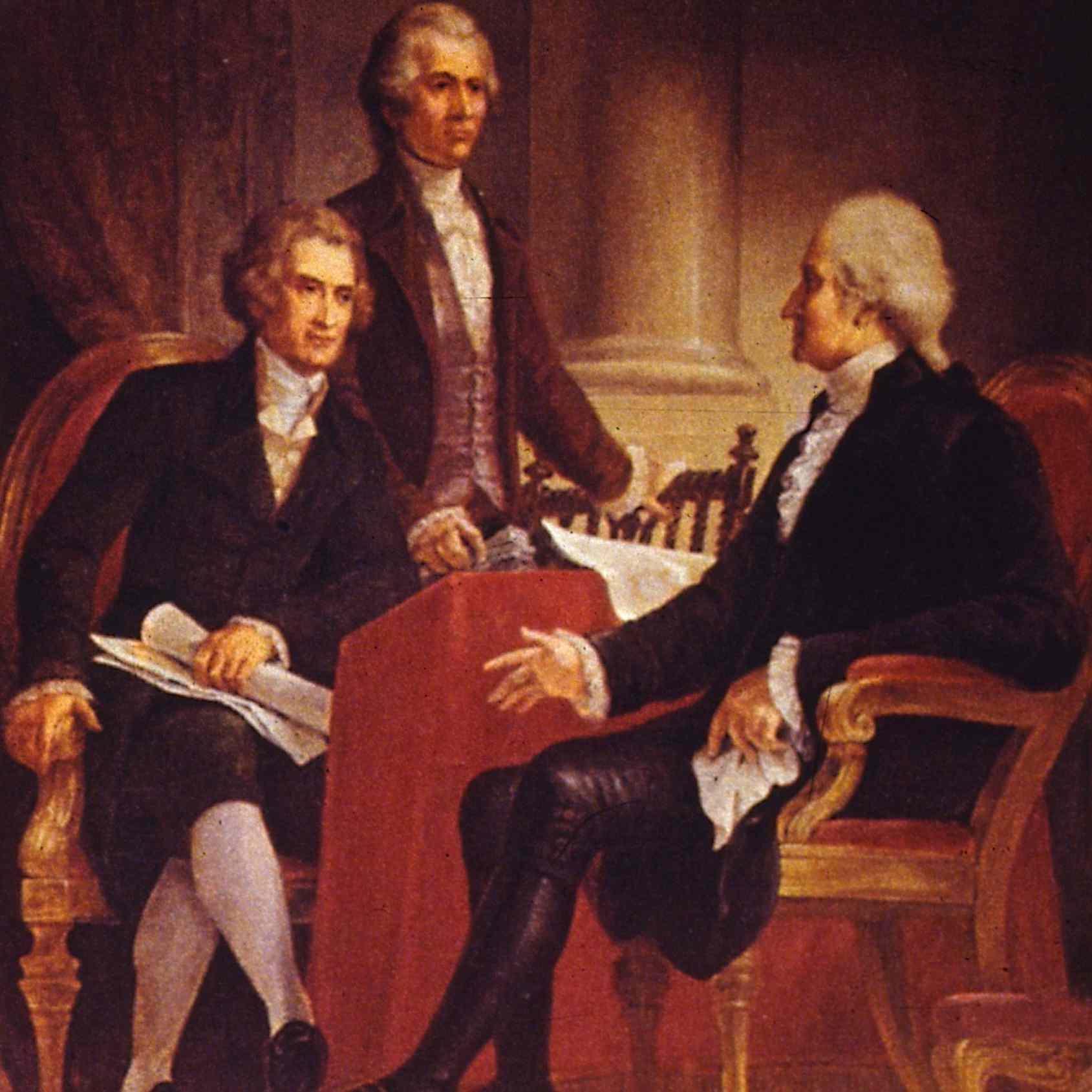 George Washington, Thomas Jefferson, and Alexander Hamilton