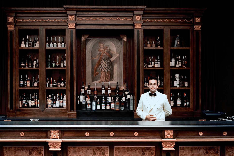 A portrait of a barman
