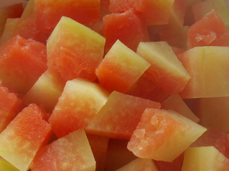 Watermelon Pickles in Progress