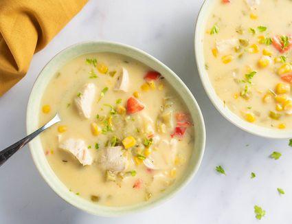 Crockpot chicken and corn chowder recipe